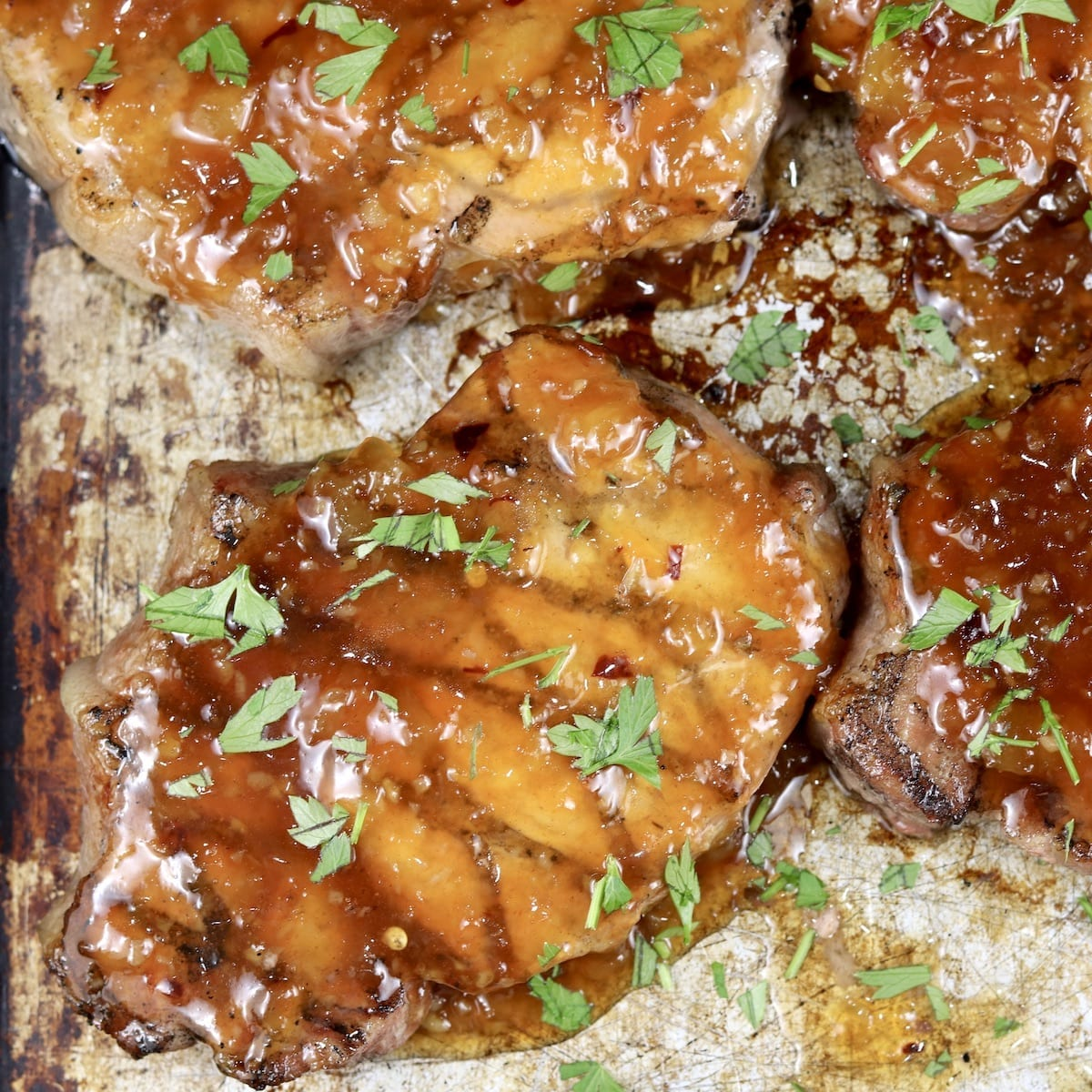 Pineapple BBQ Pork Chops