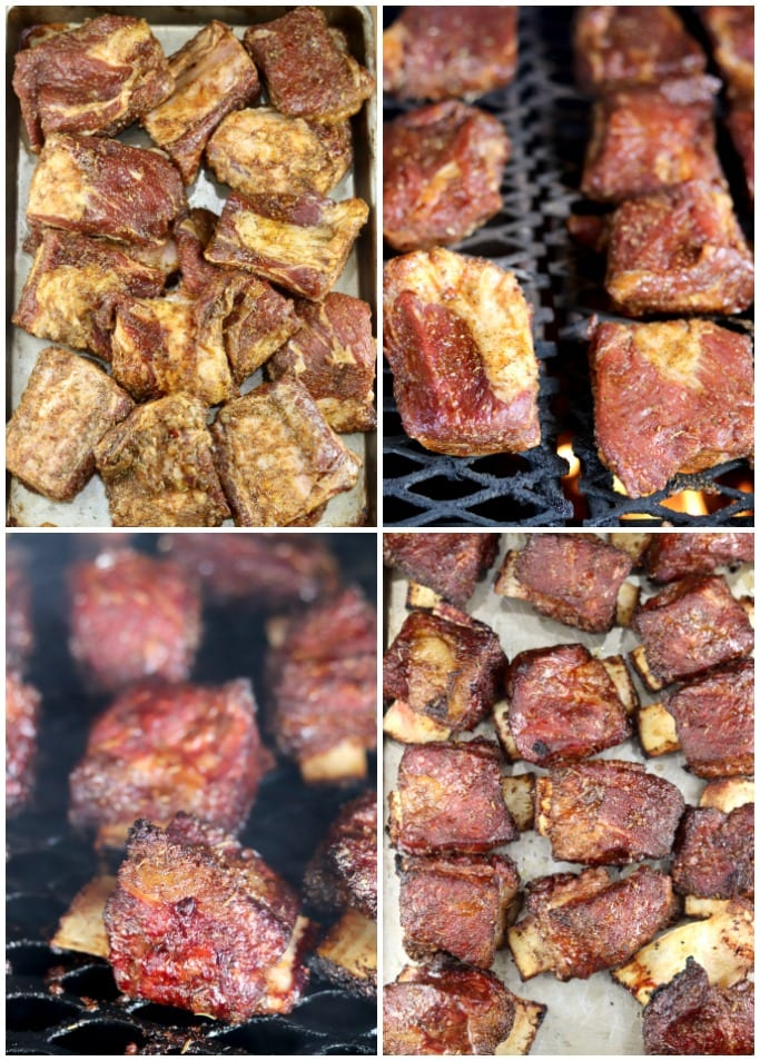 Step by step photos - how to smoke short ribs