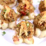 Stuffed shrimp appetizer on a platter