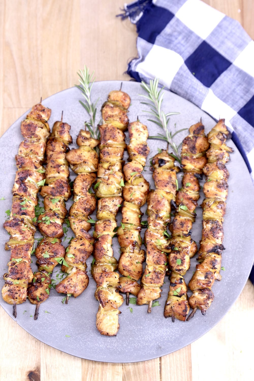 Grilled Chicken Skewers on a platter