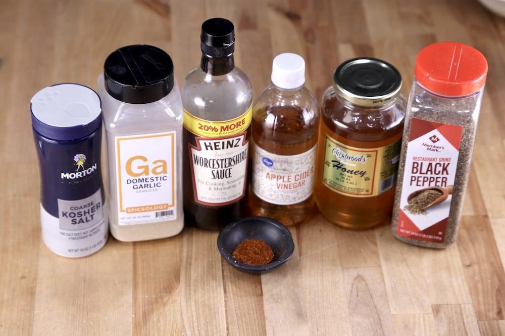 ingredients for honey garlic sauce