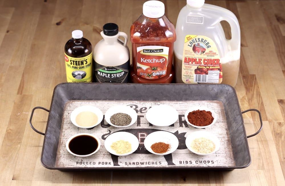 ingredients for maple bbq sauce