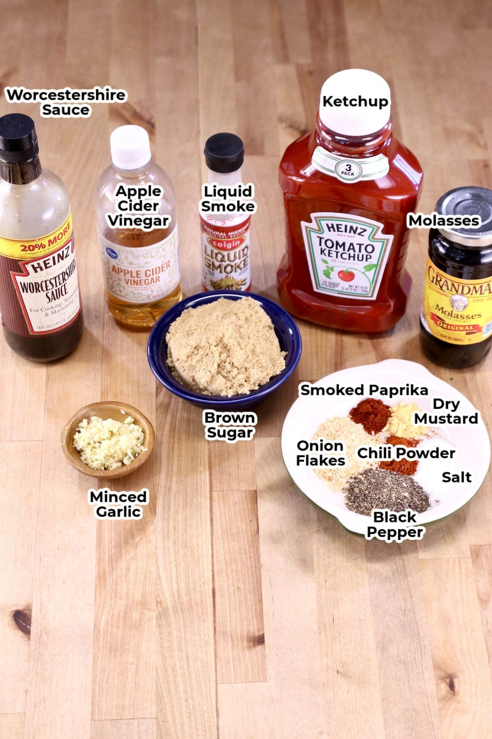 Ingredients for Sweet and Tangy BBQ Sauce
