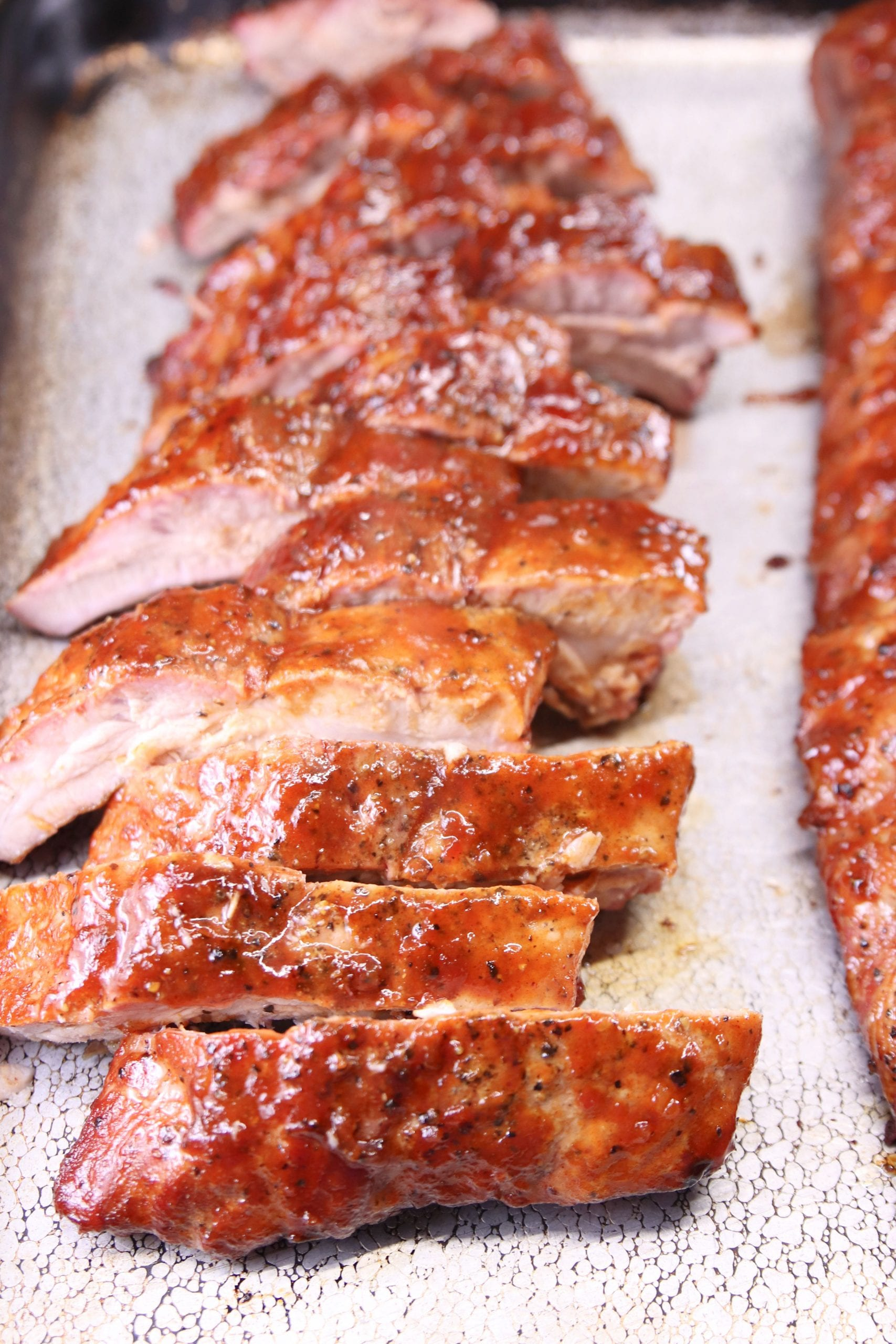 Maple ribs on a sheet pan