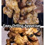 Rosemary Mustard Chicken Wings - collage with grill photo and plated