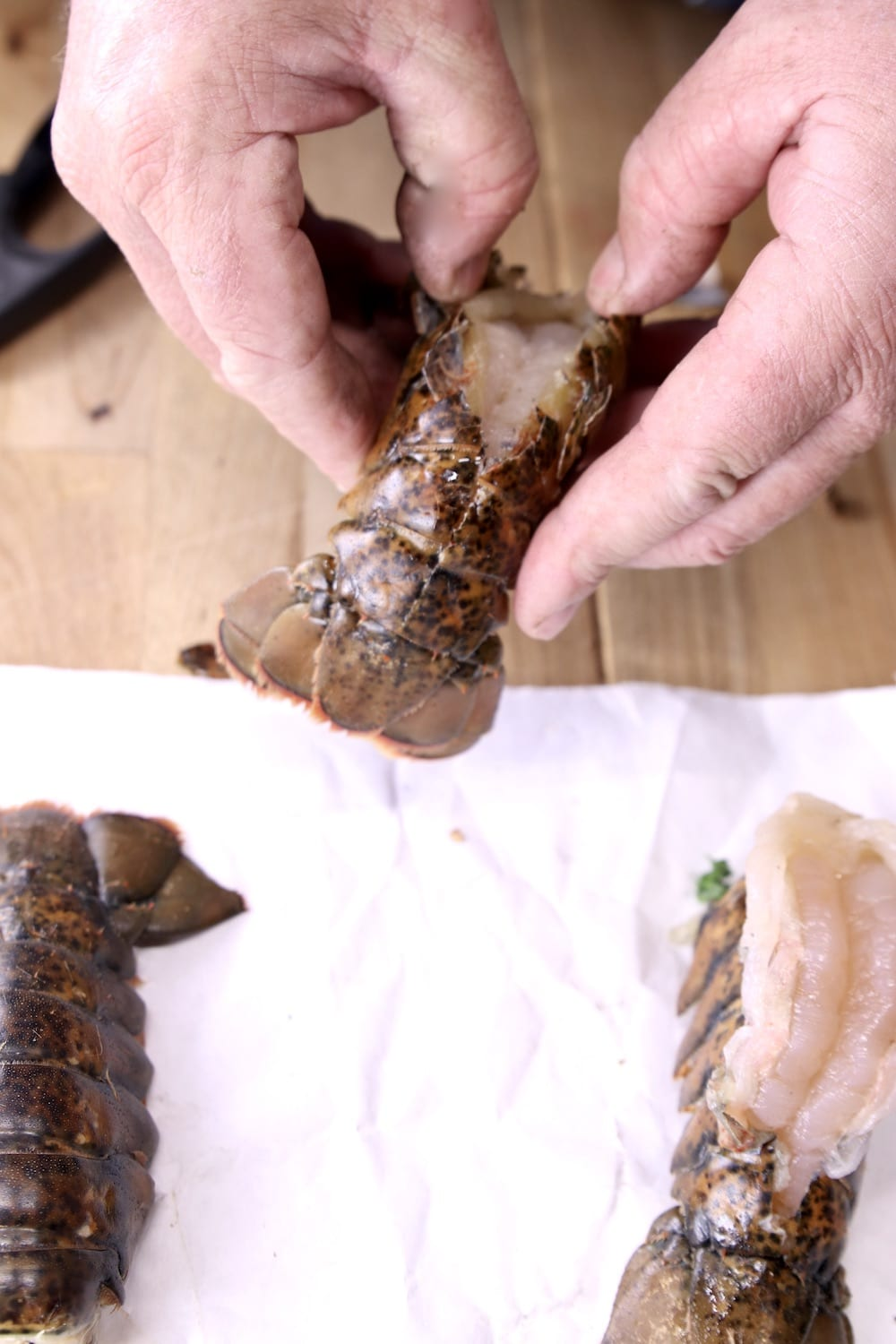 butterflying lobster tails