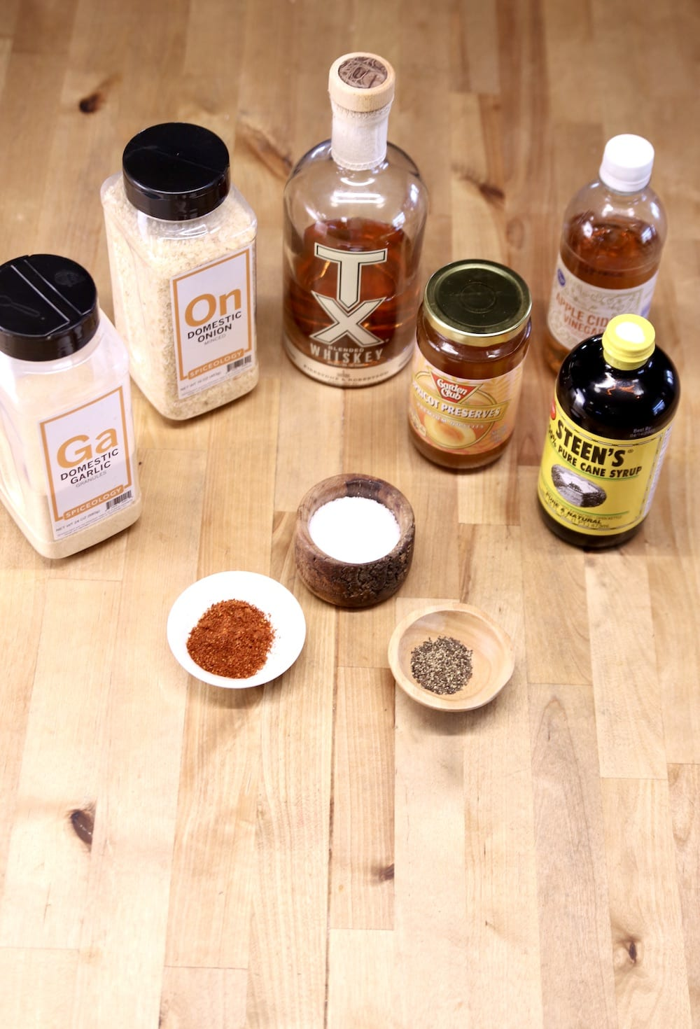ingredients for apricot bbq sauce