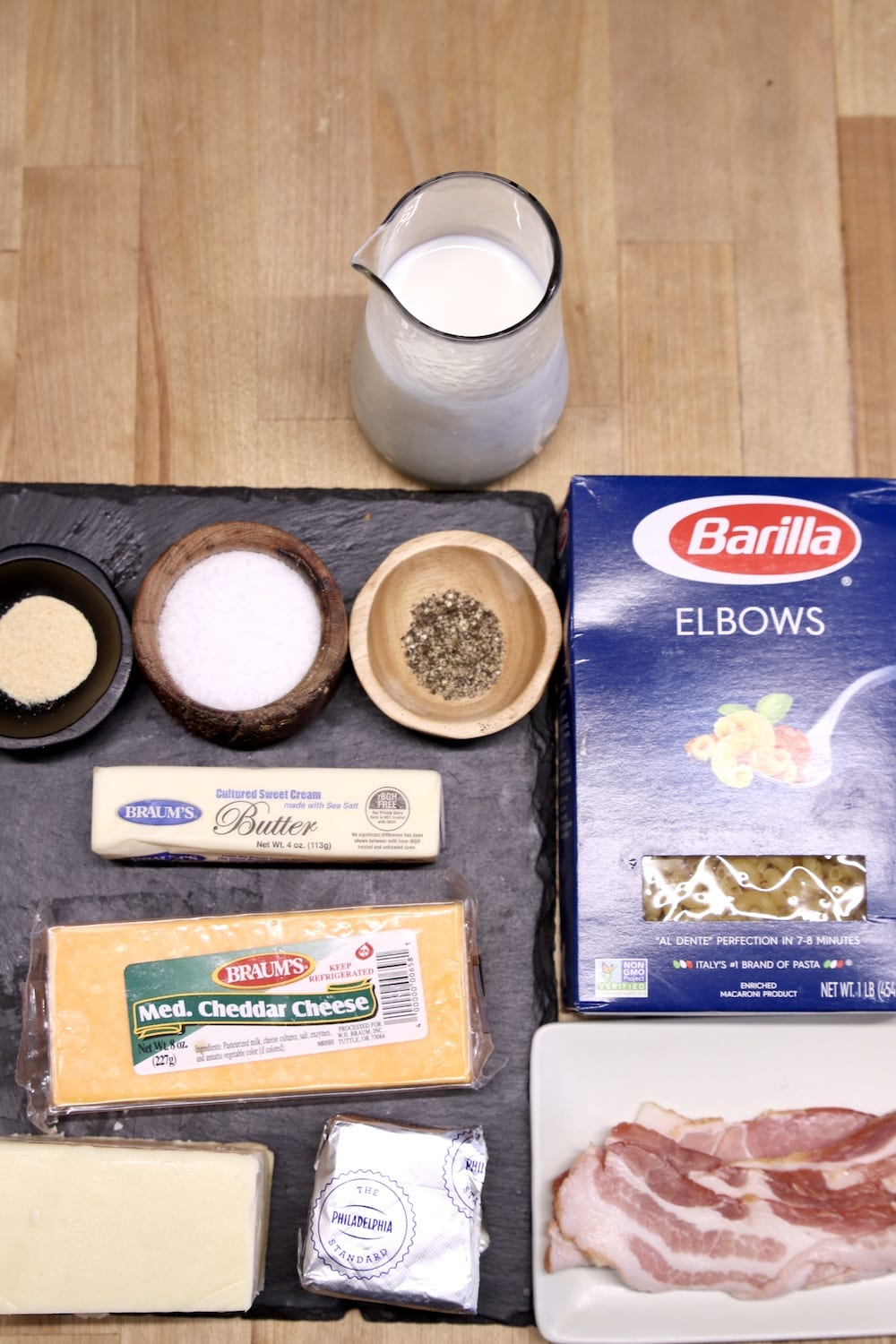ingredients for smoked mac and cheese
