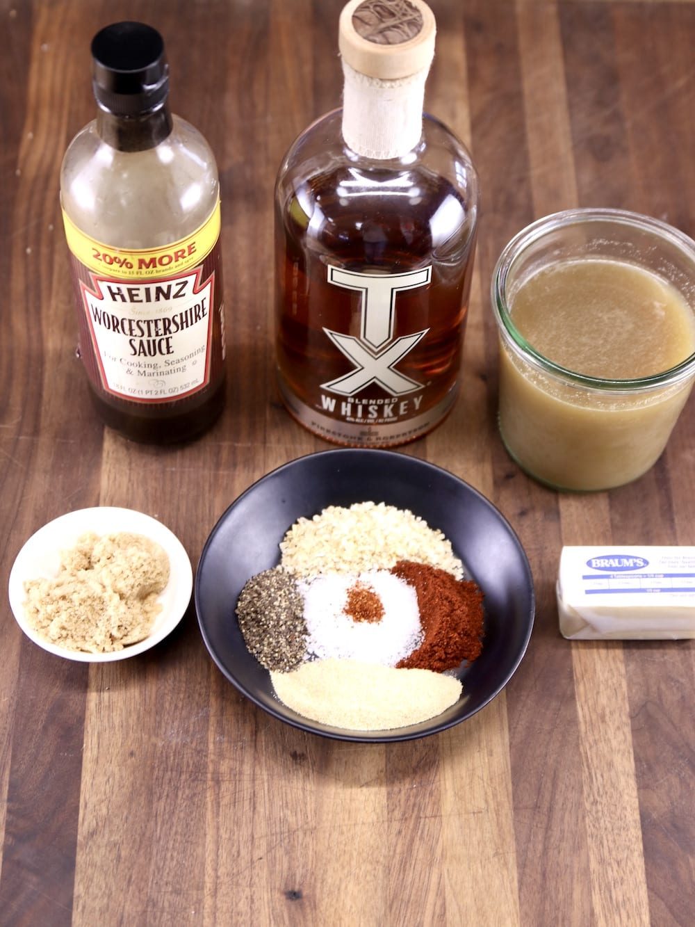 Ingredients for Whiskey Steak Sauce