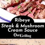 Ribeye Steaks with Mushroom Cream Sauce