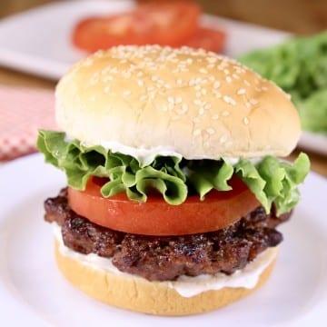 Brisket Burger on a sesame seed bun