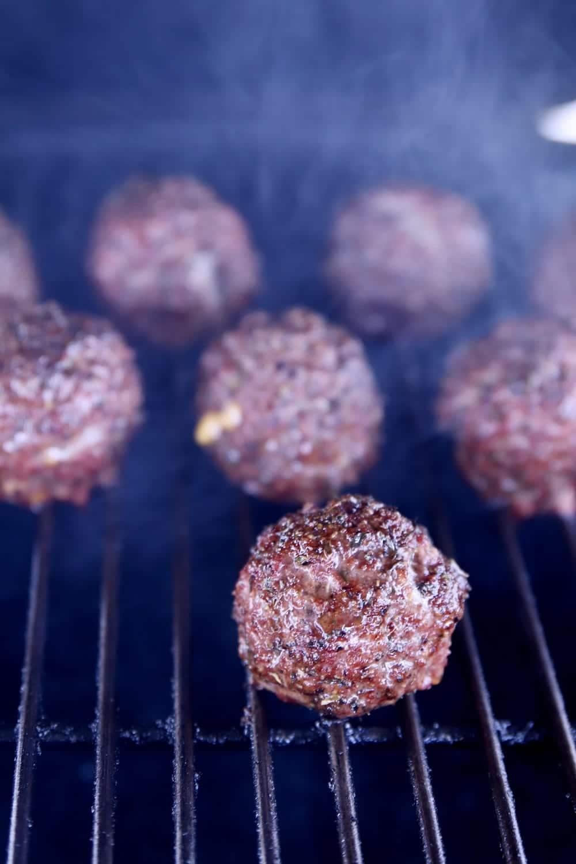 grilling meatballs
