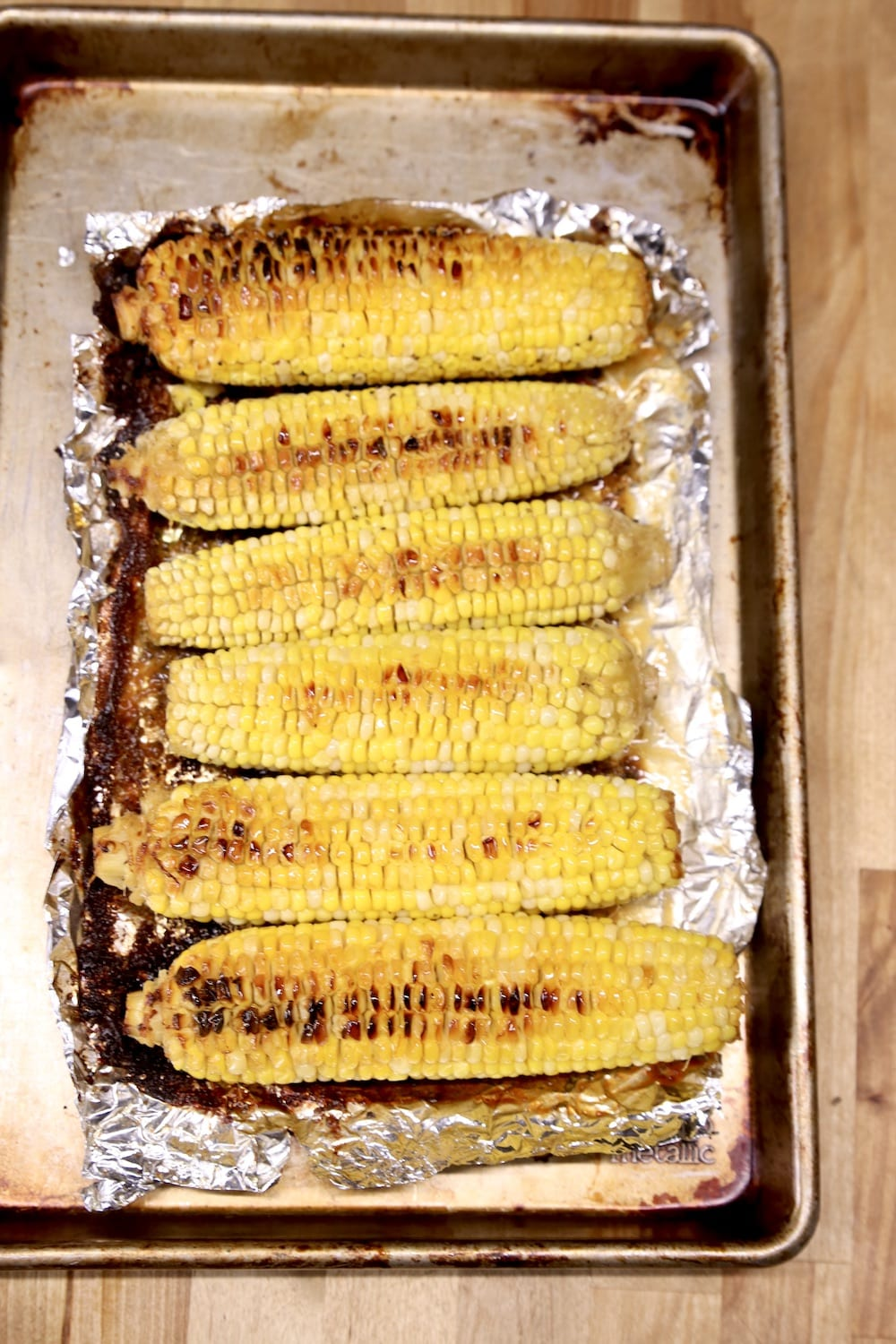 grilled corn on the cob in foil packet