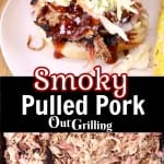 Smoky Pulled Pork collage -sandwich / pulled pork with text overlay