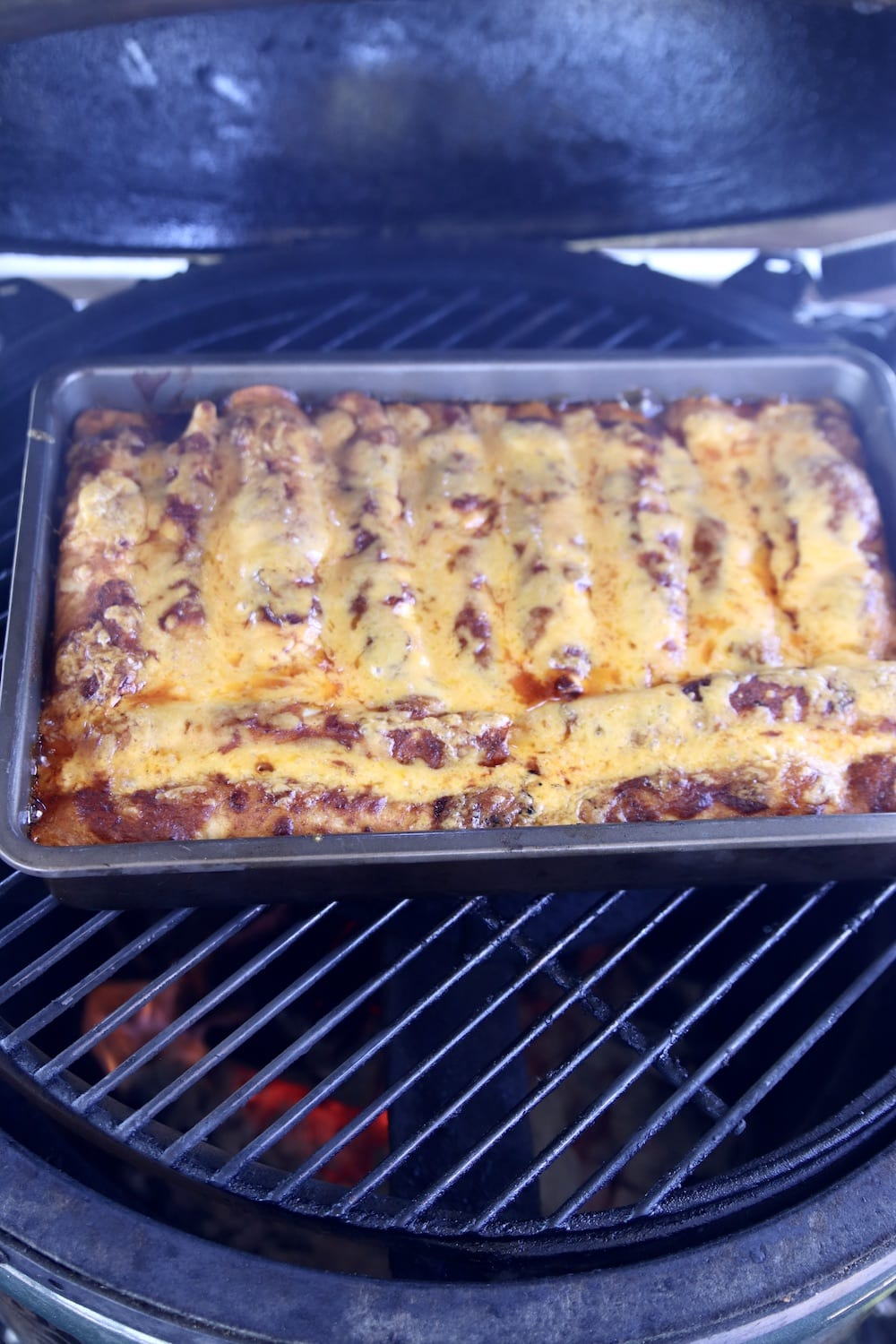 grilled chicken enchiladas with melted cheese
