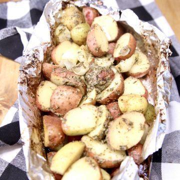 Foil Packet Garlic Butter Potatoes