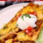 grilled chicken enchiladas with text overlay