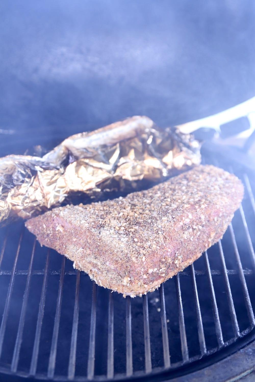 tri tip roast on a grill