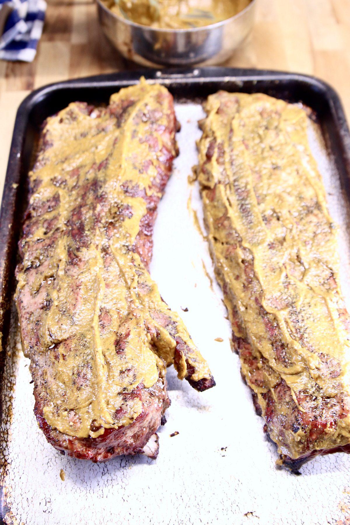 mustard glazed ribs