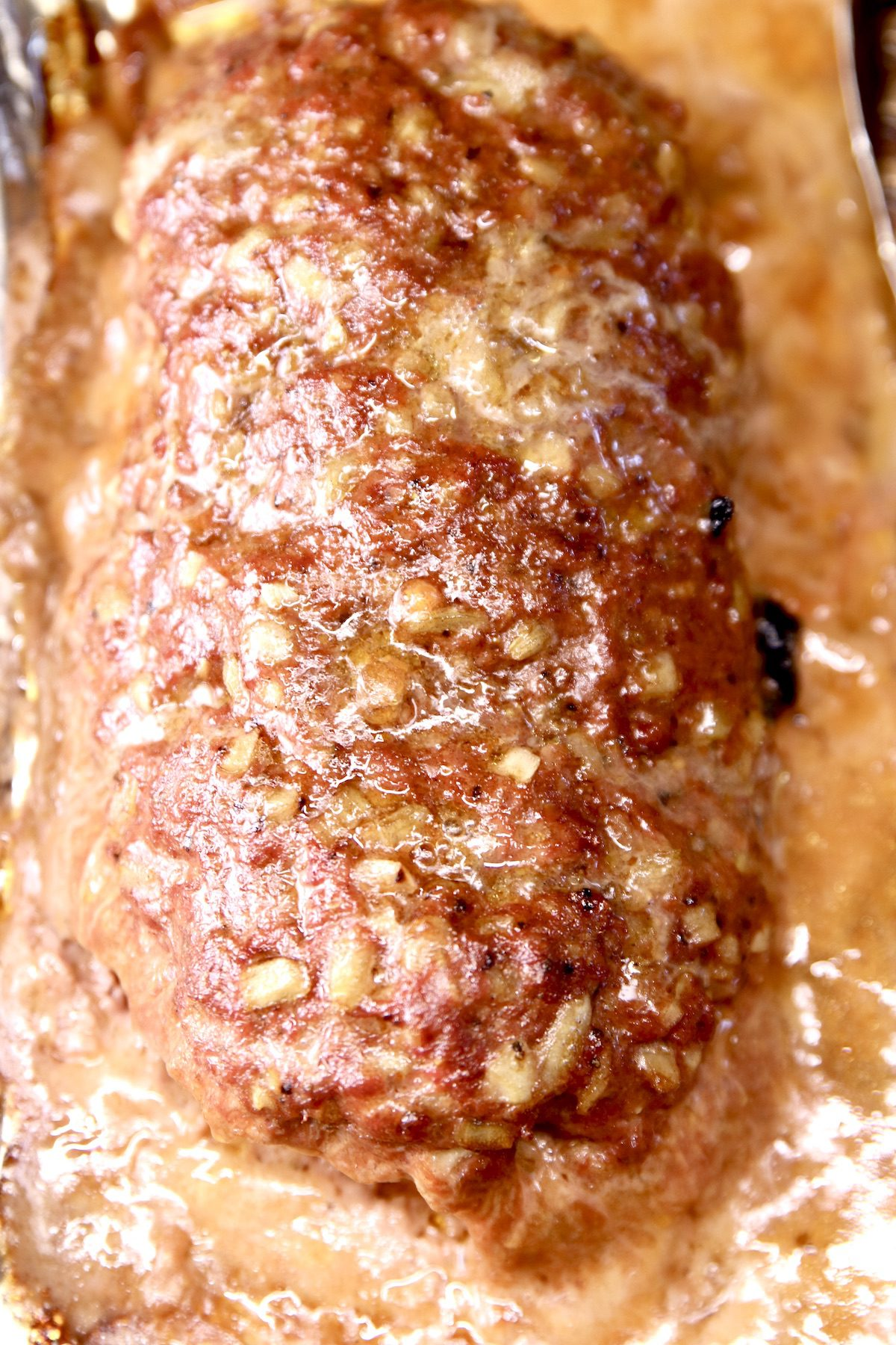 grilled meatloaf - overhead view